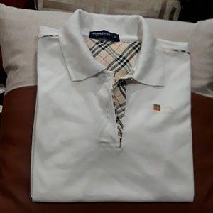 Burberry polo shirt size  L